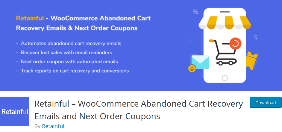 Retainful   WooCommerce Abandoned Cart Recovery emails & Next order coupons