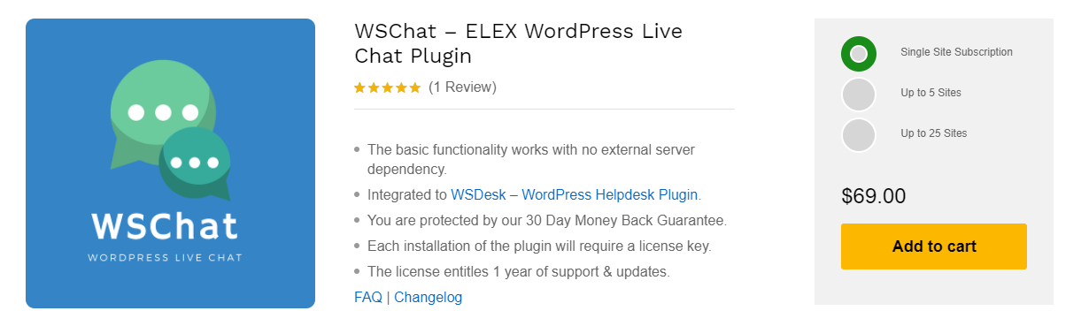1. WSChat – ELEX WordPress Live Chat Plugin