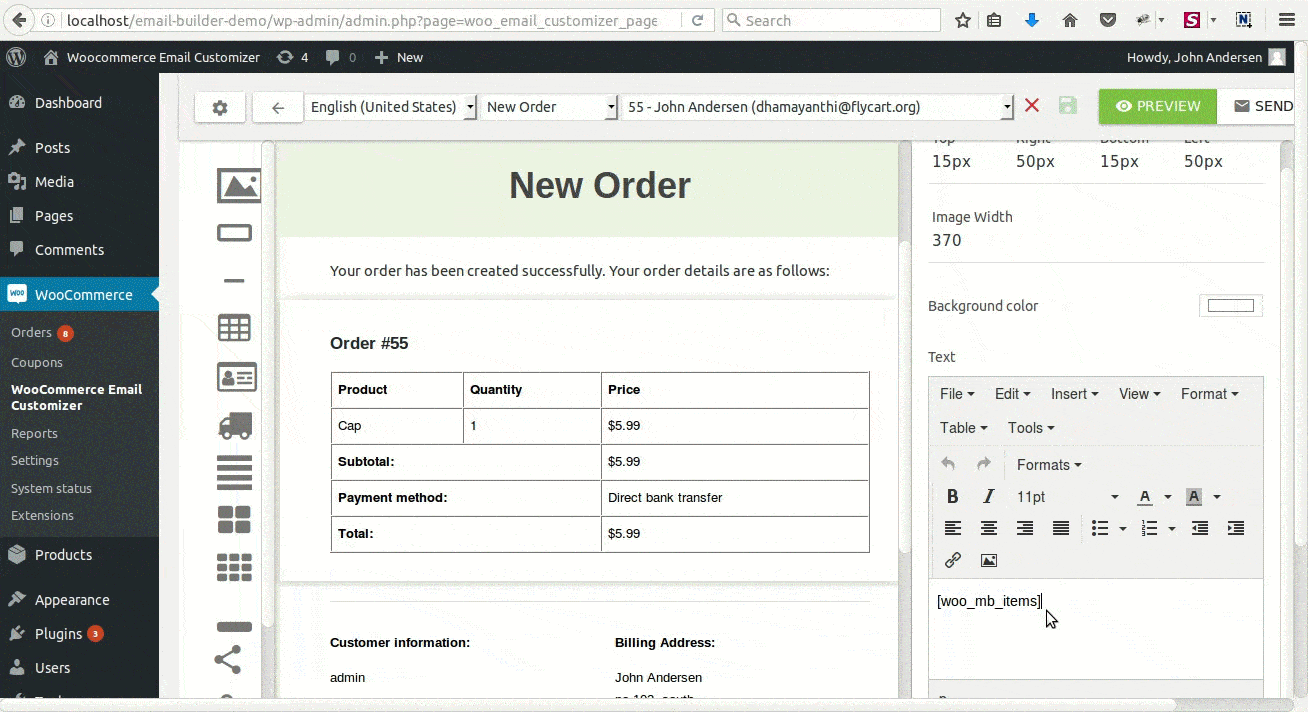 How To Customize Woocommerce Order Emails