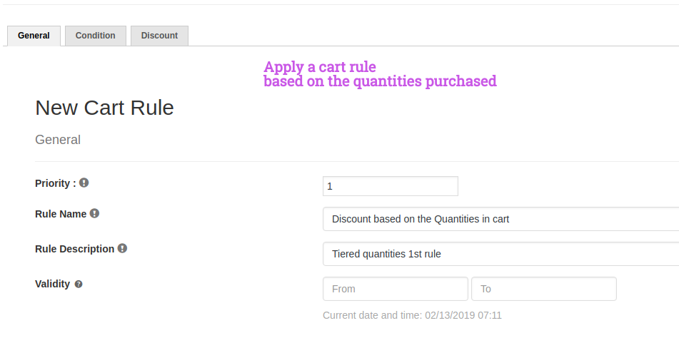 Cart rule- Quantities in Cart