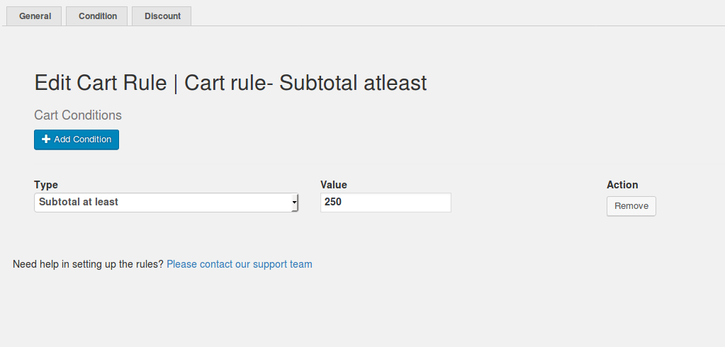 Cart rule- Subtotal Based Discount