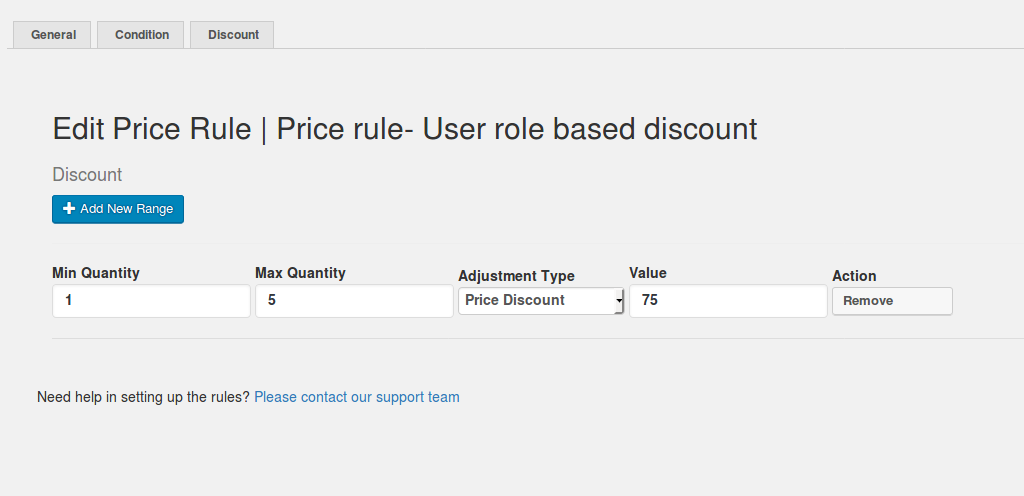 Price rule- User role based discount