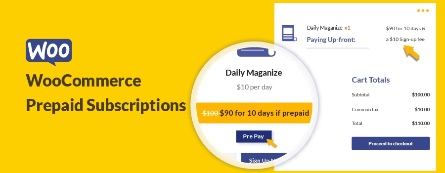 WooCommerce Prepaid Subscriptions For Upfront Payment
